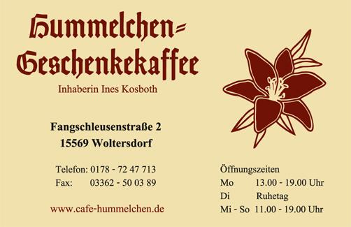 Hummelchens Geschenkekaffee, Ines Kosboth