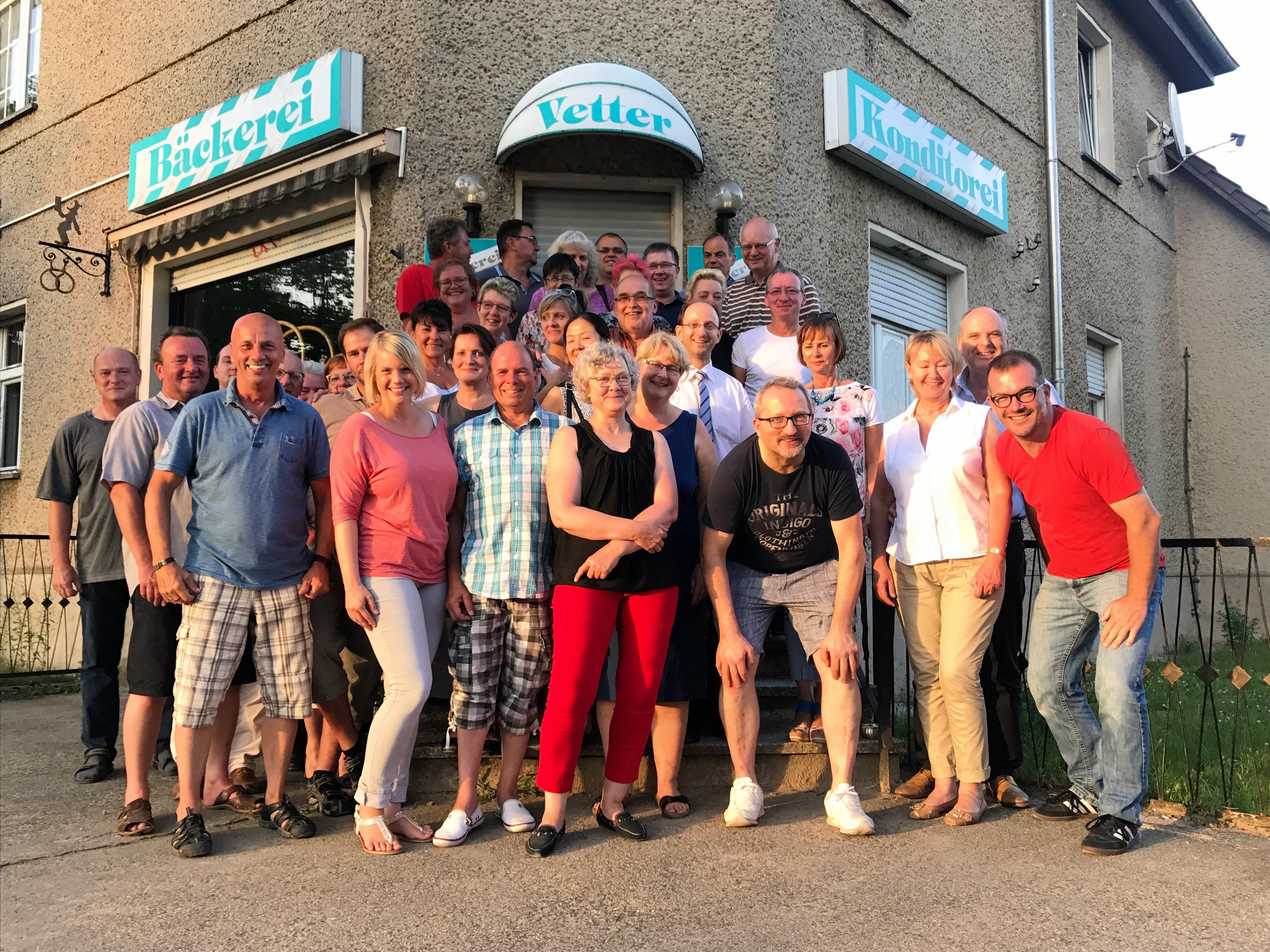 15.08.2017 – Mitglieder-Treffen bei der Bäckerei Vetter
